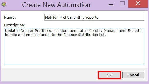 Create New Automation