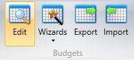 Edit Budgets