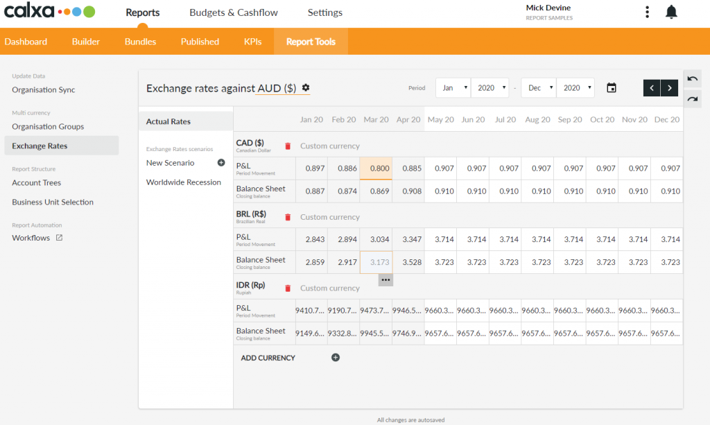 New in Calxa - Multi Currency Consolidation-1
