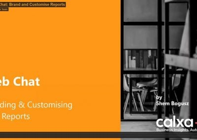 Web Chat: Customise and Brand Reports